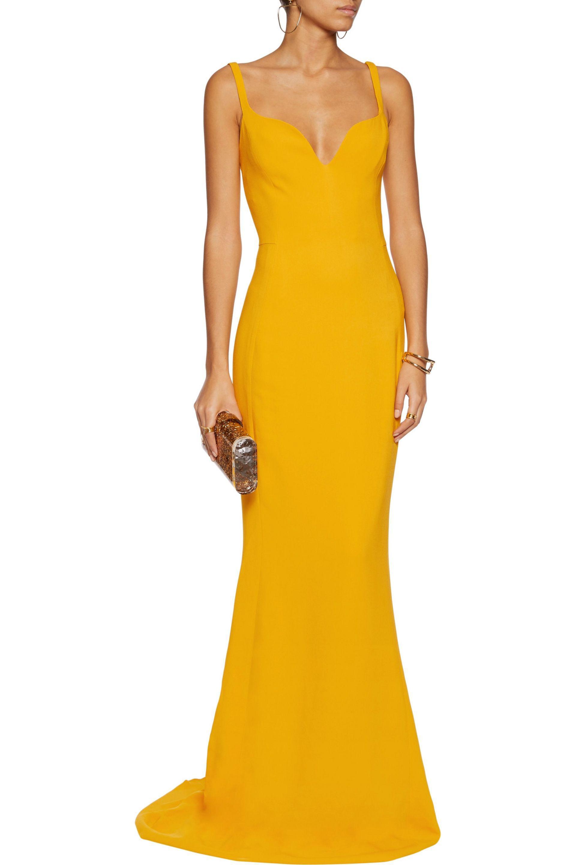 Stella Mccartney Primrose Crepe Gown in Yellow - Lyst