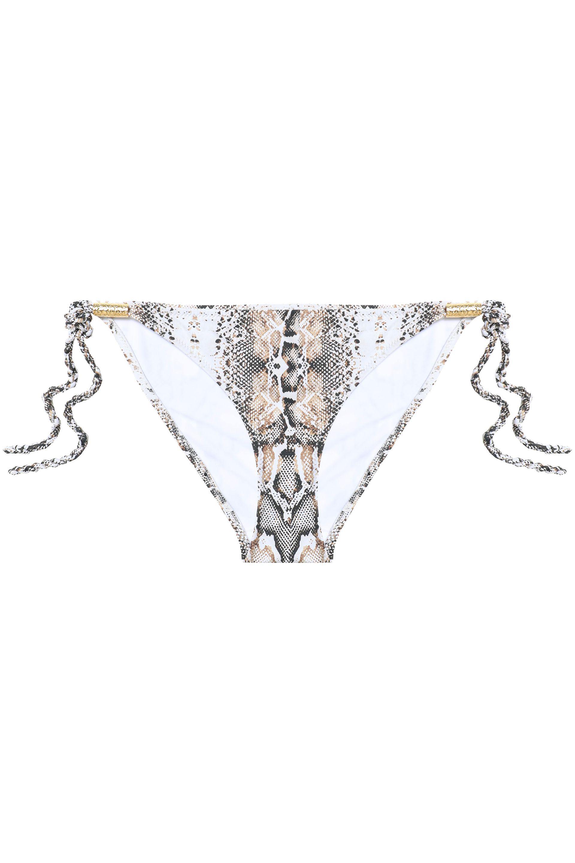 4c9d26dde1b2d Heidi Klein Embellished Snake-print Bikini Briefs in White - Lyst