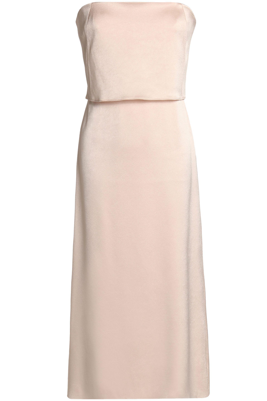 Halston Heritage Woman Wrap-effect Satin-crepe Gown Pastel Pink Size 14 Halston Heritage gephSv