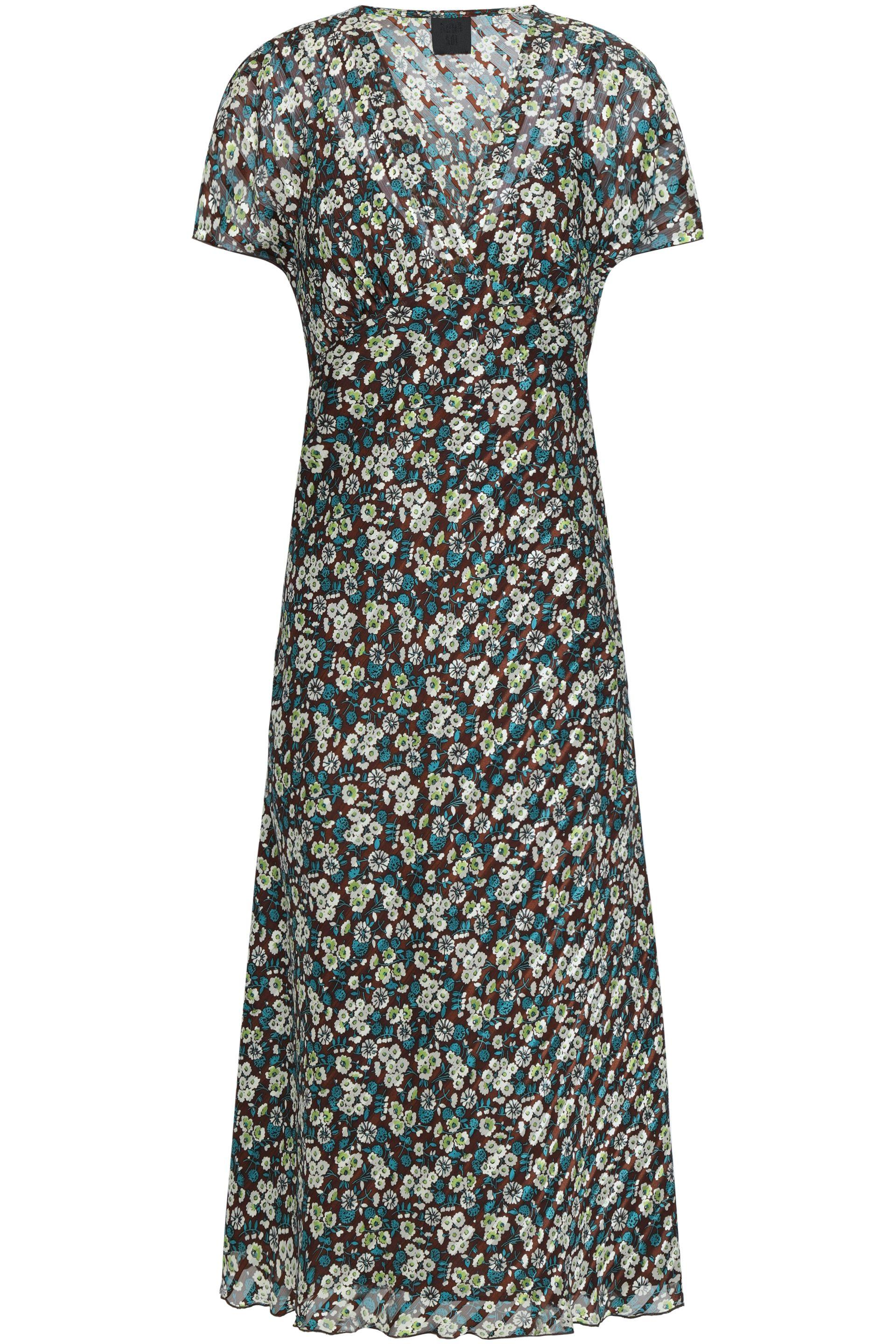 cd1334bca4be Lyst - Anna Sui Woman Floral-print Silk-georgette Midi Dress ...