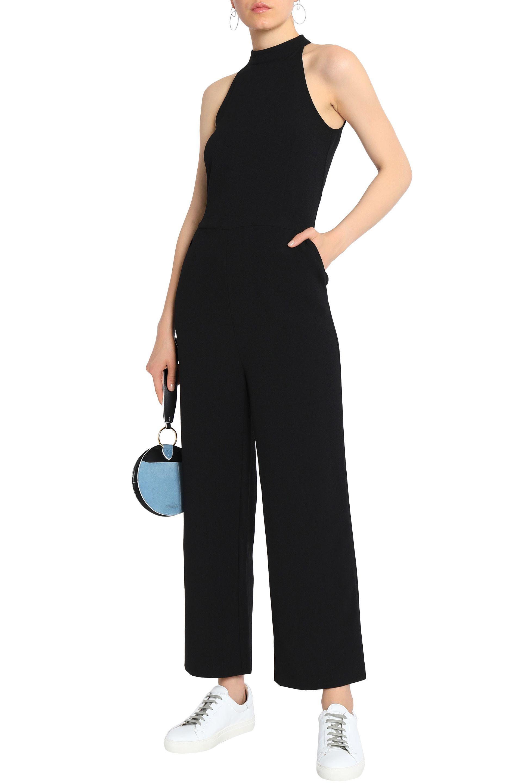 8d44072604d0 Ganni - Woman Crepe Halterneck Jumpsuit Black - Lyst. View fullscreen