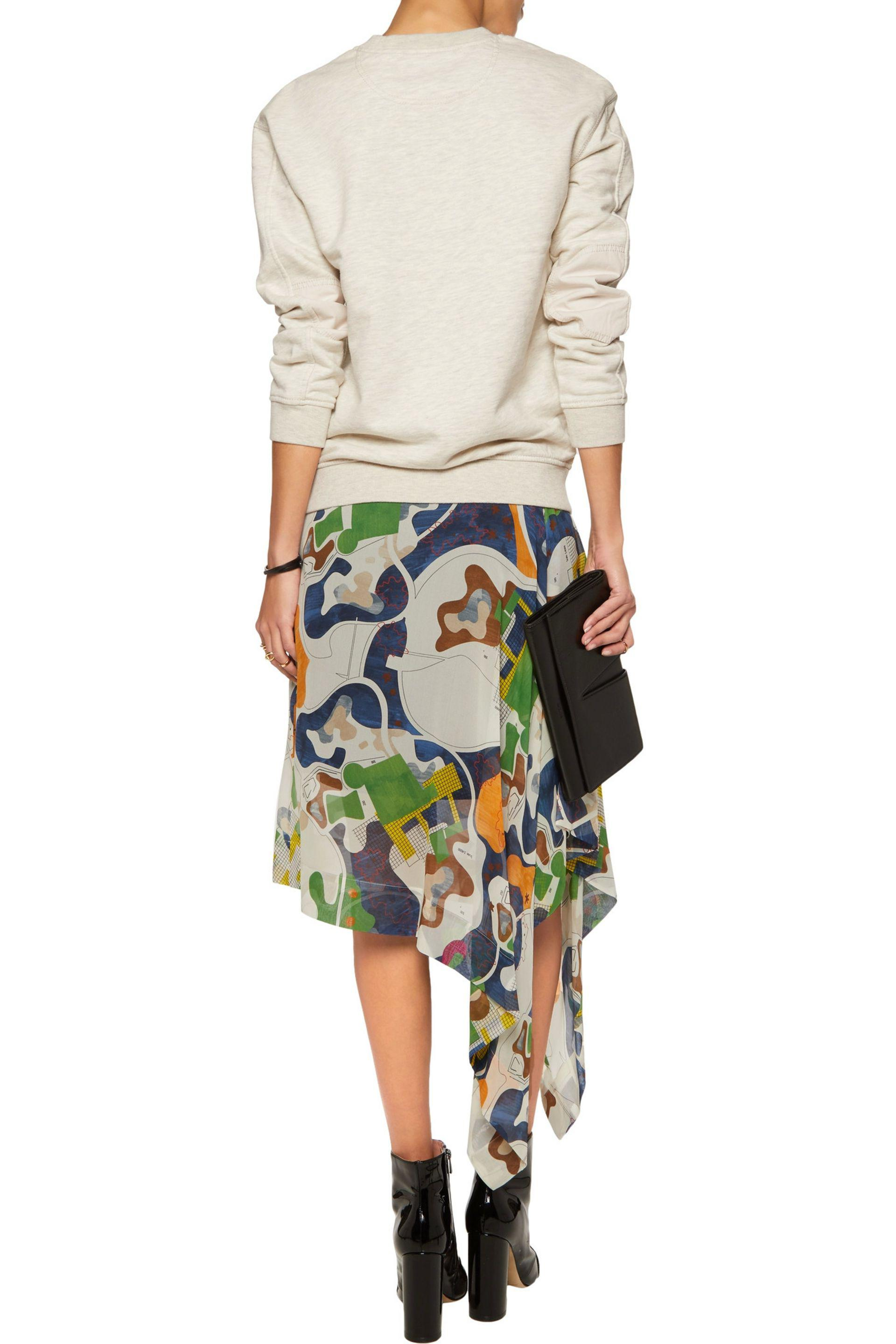 Marc By Marc Jacobs | Multicolor Twill-paneled Printed Cotton-jersey  Sweatshirt | Lyst. View Fullscreen