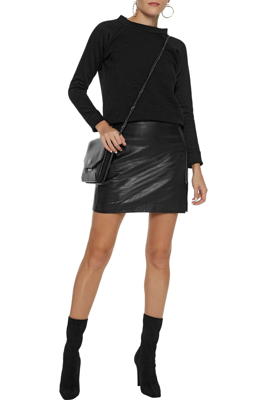 eff225cff217 Lyst - Kain Hudson Matelassé Cotton-fleece Sweatshirt in Black