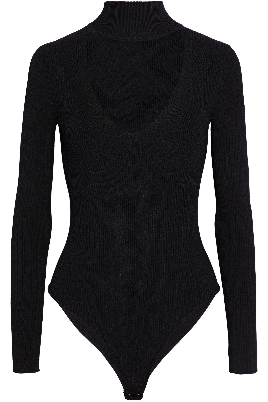 Clearance Buy New Lower Prices Cushnie Et Ochs Woman Cutout Ribbed-knit Turtleneck Bodysuit White Size XL Cushnie et Ochs Sale Low Shipping Buy Cheap Amazon Sale Fashion Style XFnIXuK