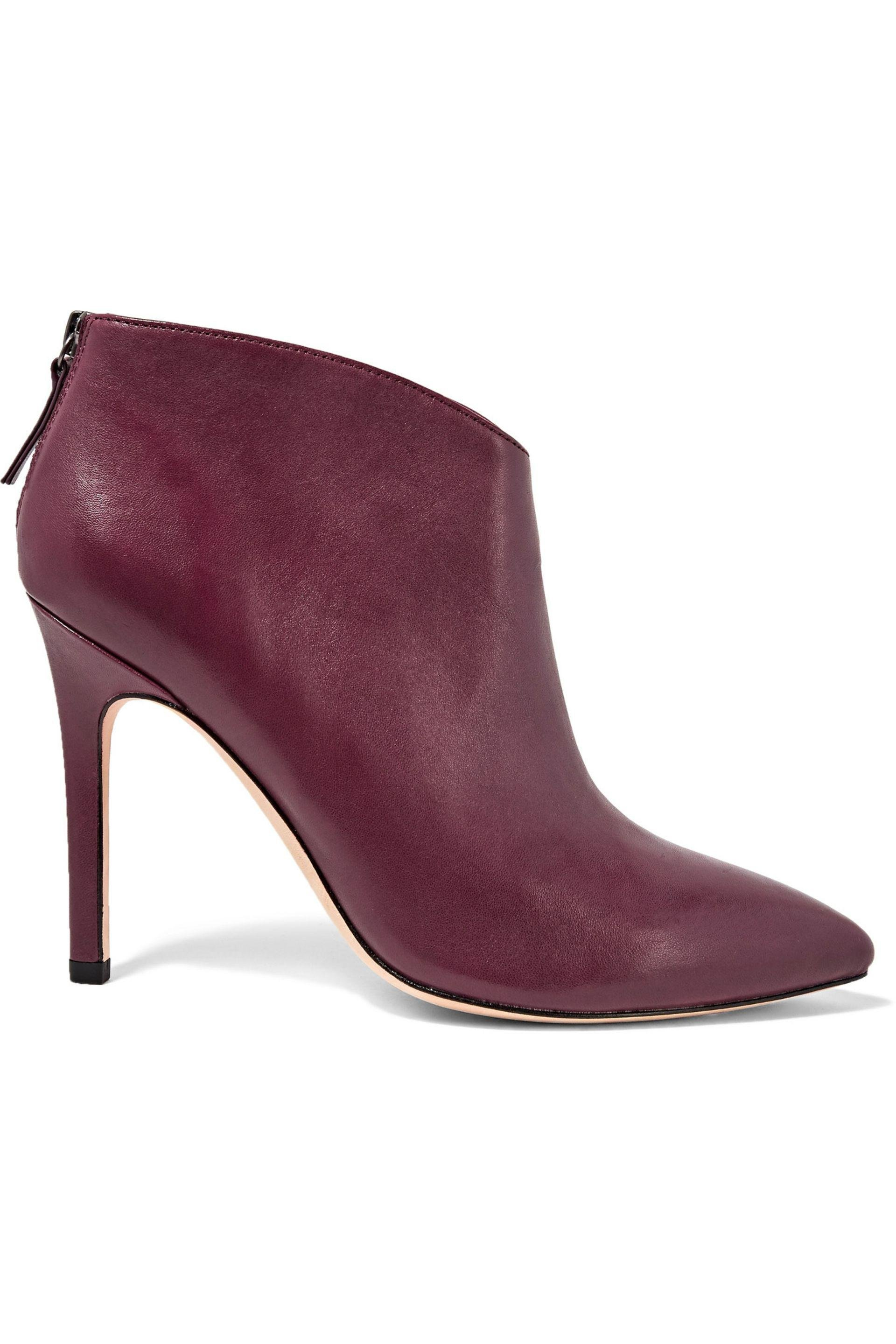 Womens Wendy Leather Ankle Boots Halston Heritage 9zkV0