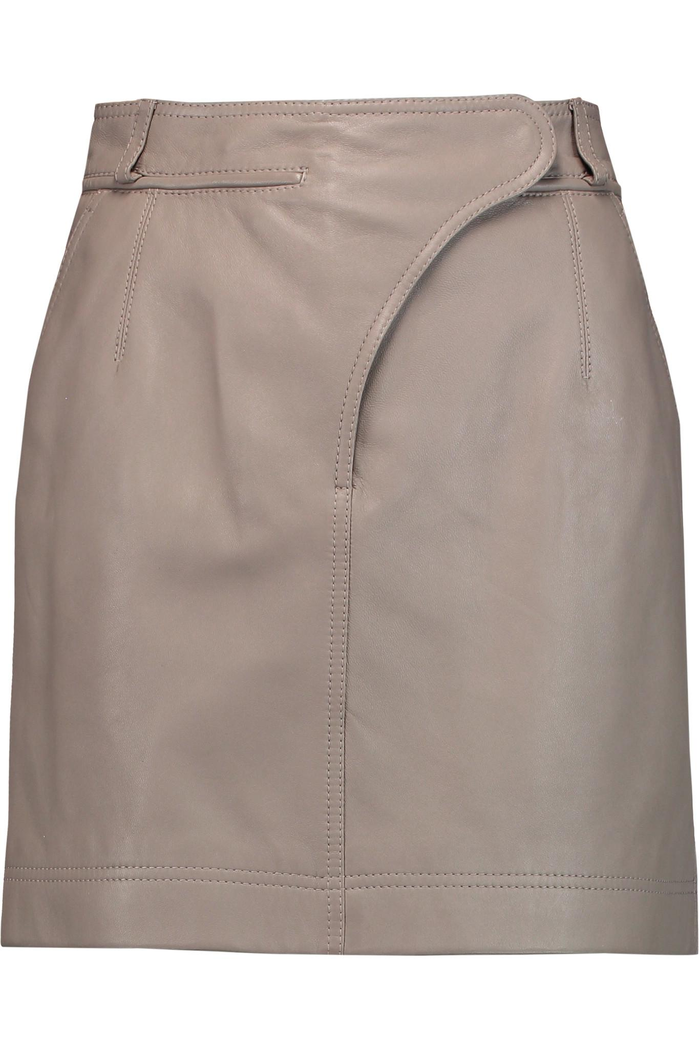carven leather mini skirt lyst