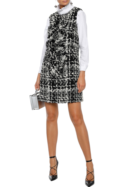 cb2089003c5562 Lyst - Dolce   Gabbana Woman Ruffled Wool-blend Bouclé-tweed Mini ...