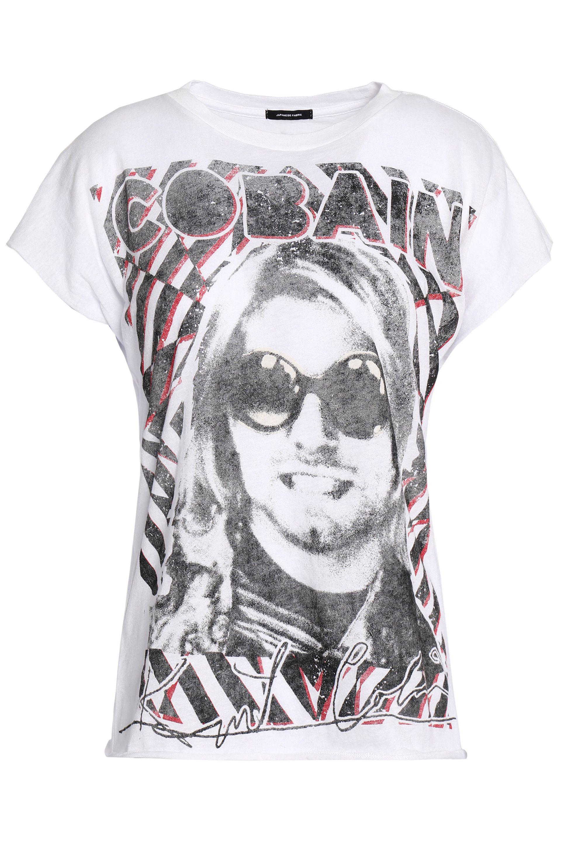 Woman Printed Cotton And Cashmere-blend T-shirt White Size M R13 Cheap Sale Cost abmUVgpf