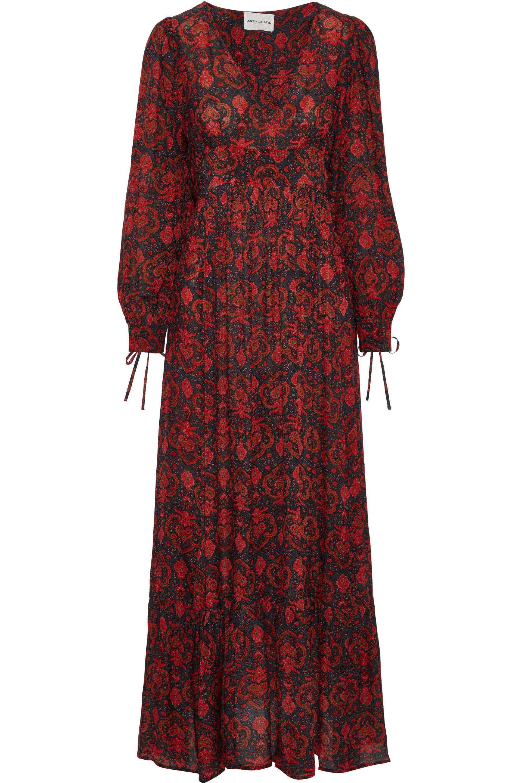 Lyst - Antik Batik Myle Tie-back Printed Crepe De Chine Maxi Dress ... 9d9abf851