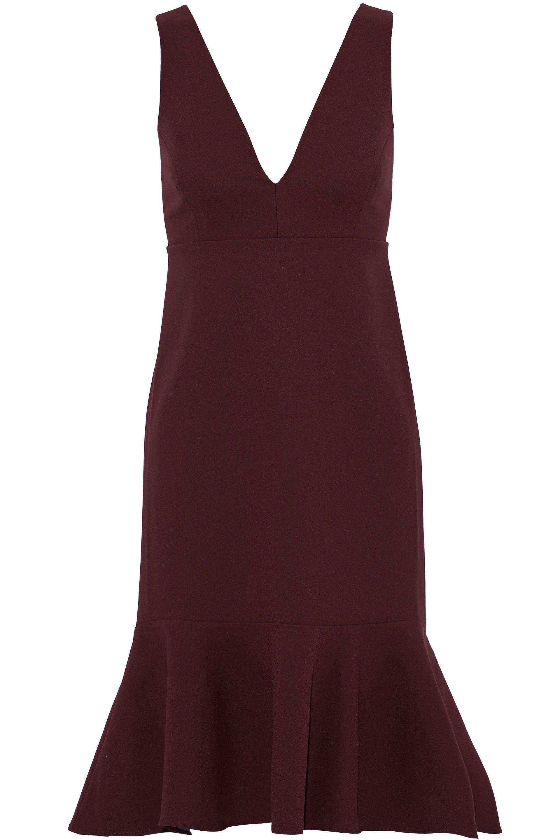 Iris & Ink Woman Renalda Fluted Stretch-ponte Dress Black Size XL IRIS & INK Sale Low Shipping Fee Footaction Clearance Low Price Original Sale Online Buy Cheap Best kK83qoF