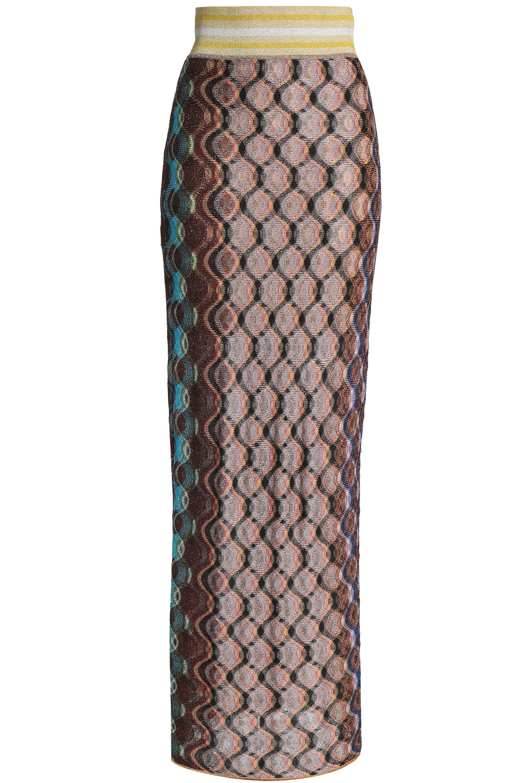 eb232b660a2 Missoni Fringed Metallic Crochet-knit Maxi Skirt - Lyst