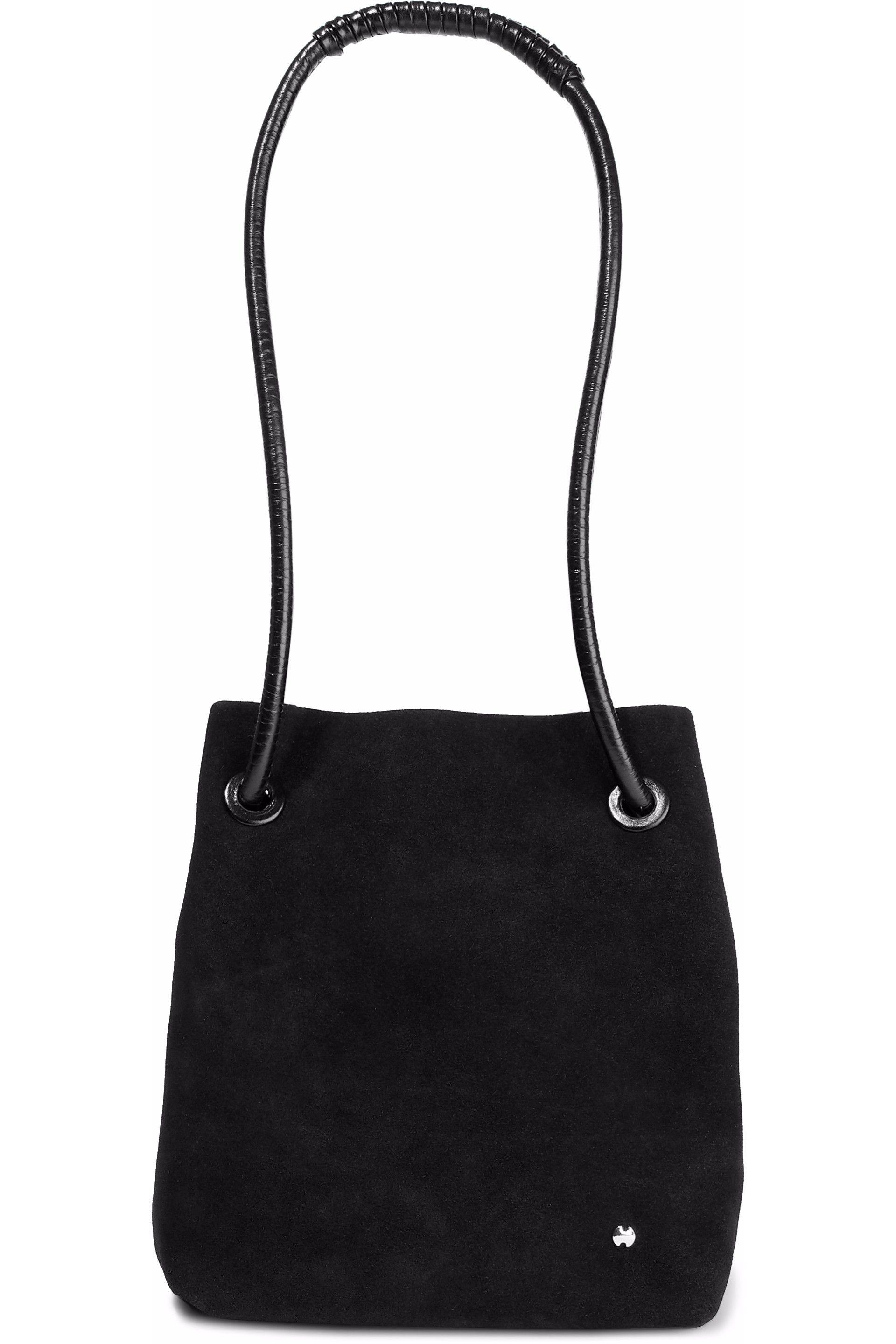 e7b1ffffa9 Halston Woman Alism Suede Bucket Bag Black in Black - Lyst