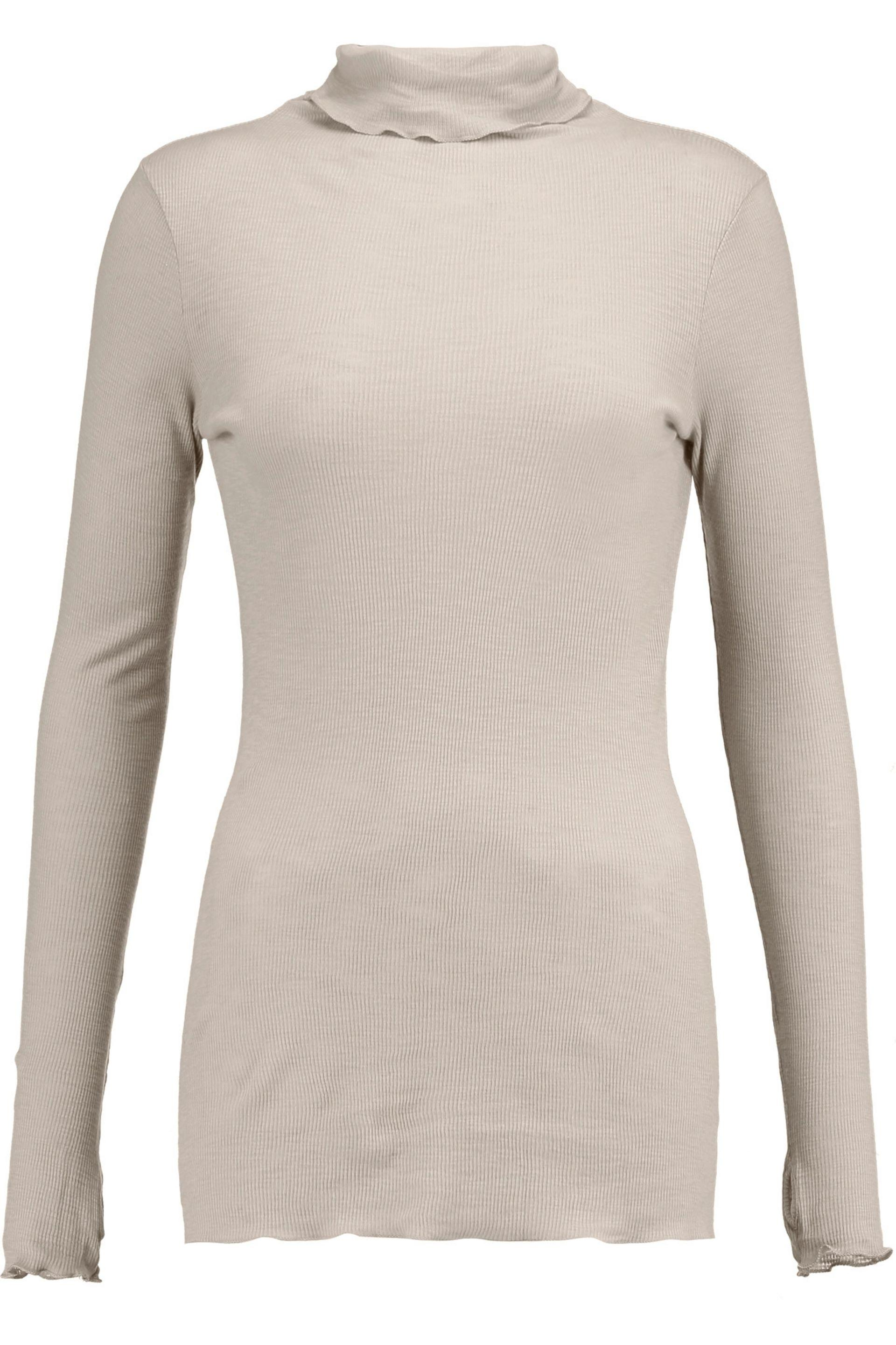 Enza Costa. Women's Ribbed Cotton-jersey Turtleneck Sweater
