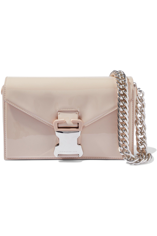 ec9d75d0d4ba2 christopher-kane-Beige-Devine-Chain-trimmed-Patent-leather-Shoulder-Bag.jpeg