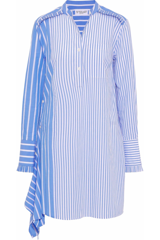 00a7dd642d4 10 Crosby Derek Lam. Women s Woman Asymmetric Striped Cotton-poplin Mini Shirt  Dress Light Blue