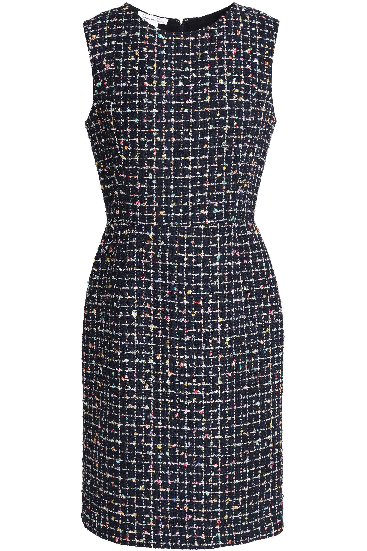 Oscar De La Renta Woman Embellished Bouclé-tweed Dress Midnight Blue Size 2 Oscar De La Renta Cheap Great Deals Ebay Cheap Price Cheap Big Sale Big Discount BQ5ULC2em