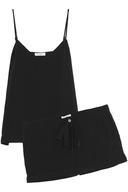 39b7478ed0 Equipment Layla Washed-silk Pajama Set in Black - Lyst