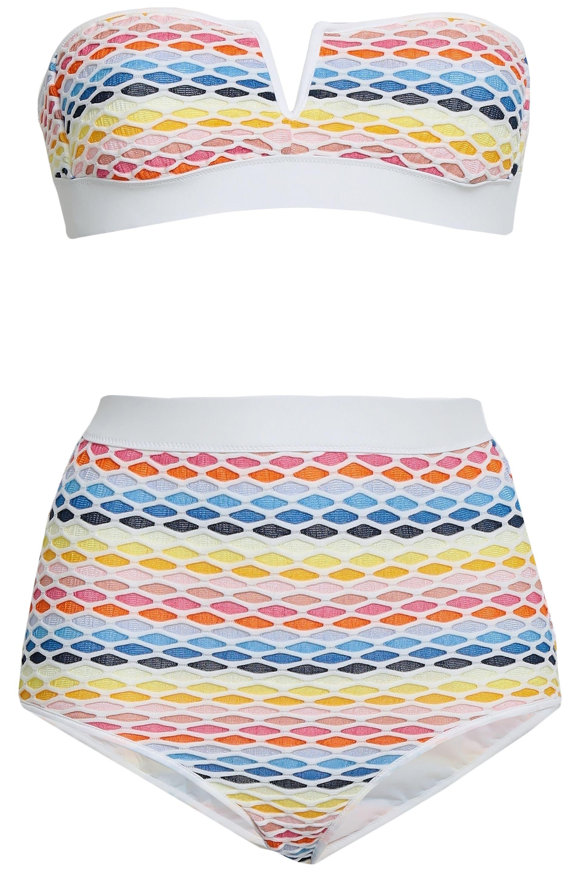 b30a95787f Missoni Woman Crochet-knit Bandeau Bikini Blue in Blue - Lyst