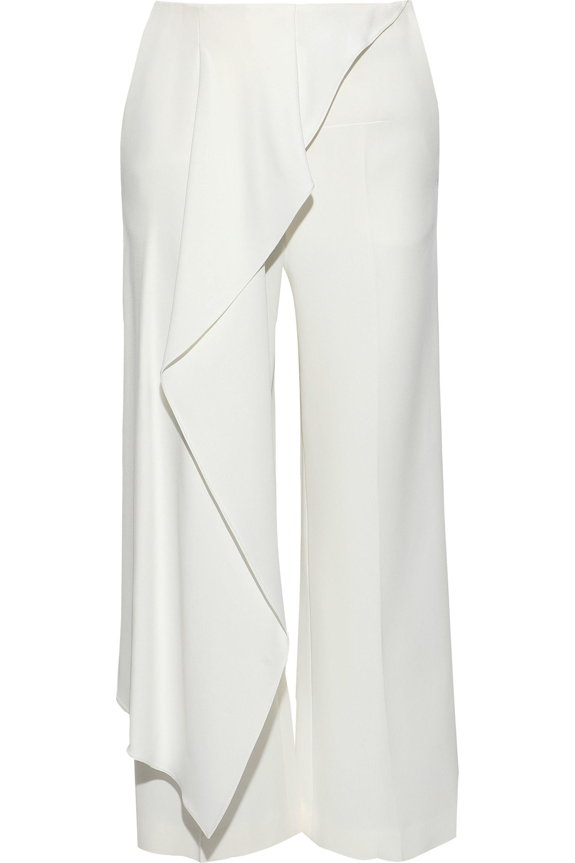 Woman Lyst Draped Roland Mouret Griffith Cropped Stretch Crepe DEH29WIY