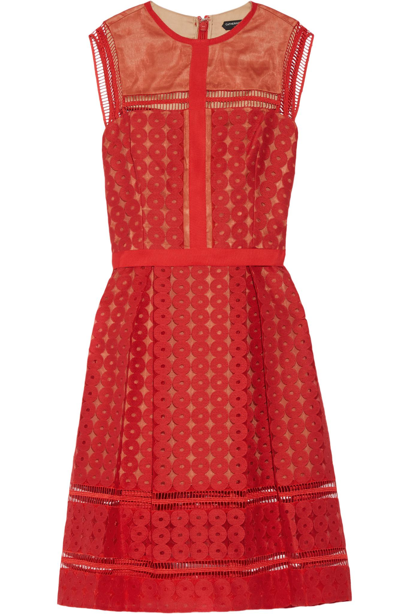 d2fce73dc8 Lyst - Catherine Deane Feya Embroidered Organza Dress in Red