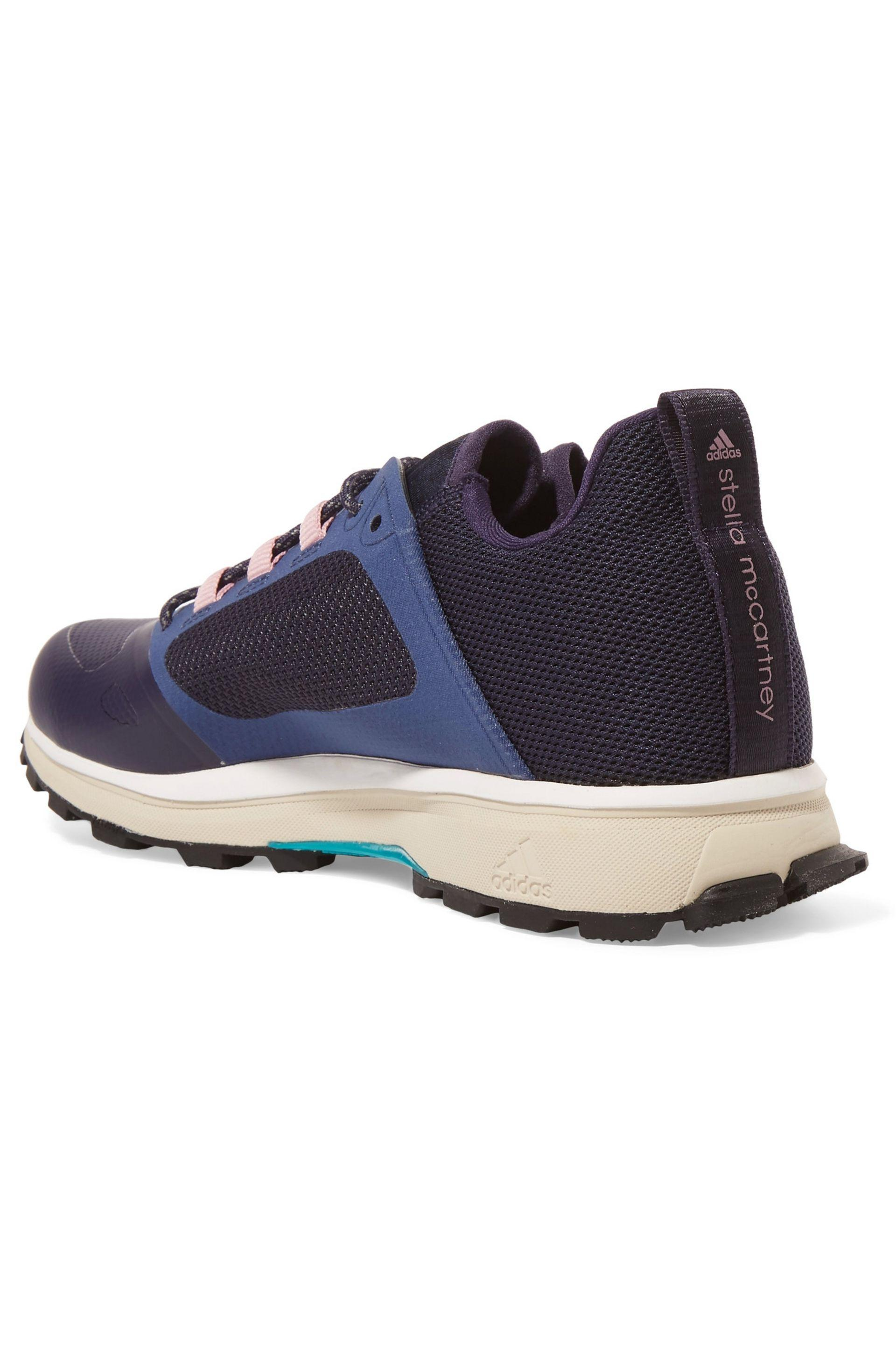 b2bbf2f5d7246 Adidas By Stella McCartney - Blue Woman Paneled Mesh And Rubber Sneakers  Navy - Lyst. View fullscreen