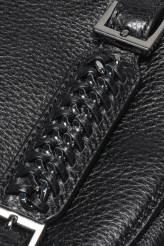 dff0495e7006 Diane von Furstenberg - Woman Iggy Chain-embellished Textured-leather  Shoulder Bag Black -. View fullscreen