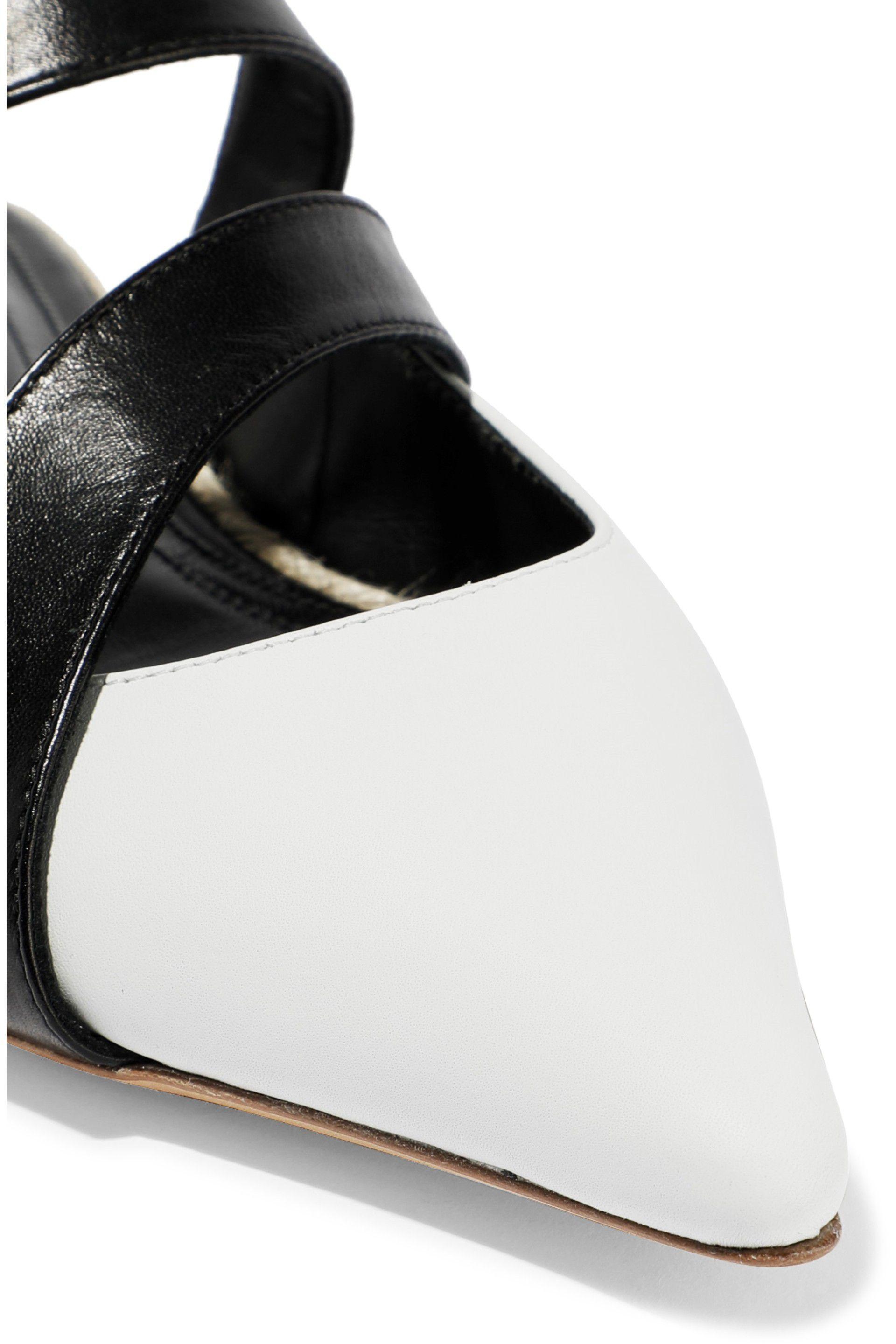 ed2156c2c J.W. Anderson - Two-tone Leather Slippers White - Lyst. View fullscreen