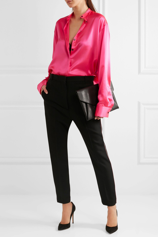 5f35ea8b6f3e9 Lyst - Haider Ackermann Oversized Silk-satin Shirt Bright Pink in Pink