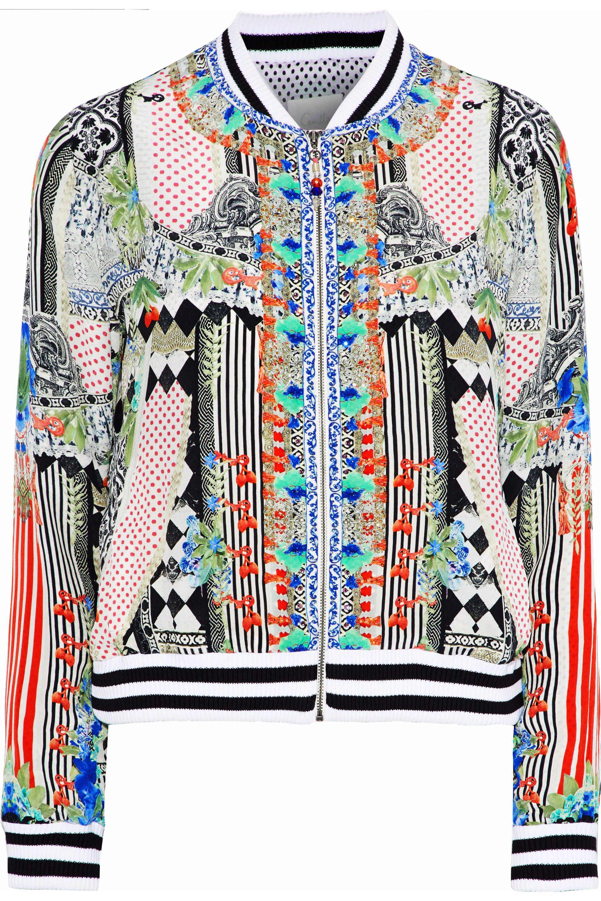 9b3b3fb7a952 Camilla Abstract Print Bomber Jacket - Save 63% - Lyst