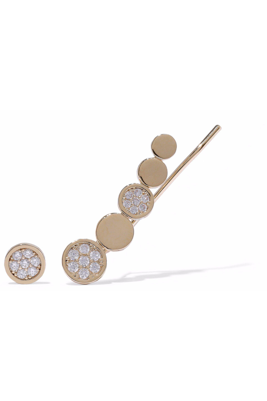 Astrid & Miyu Astrid & Miyu Woman Black Magic 18-karat Rose Gold-plated Crystal Cuff And Stud Earring Rose Gold Size j0yB8MA0