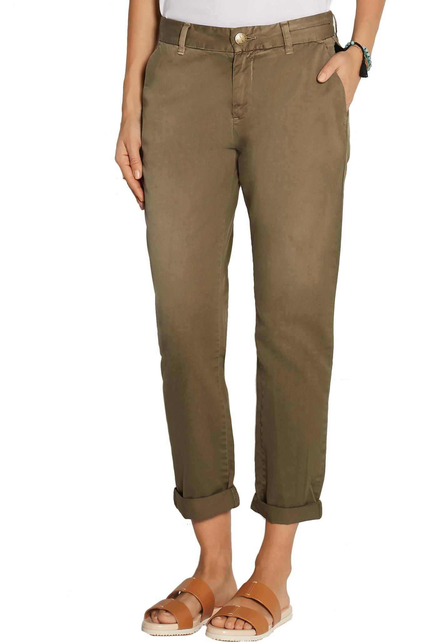 For Cheap Sale Online Discount Shop The Buddy Cotton-twill Tapered Pants - Army green Current Elliott vR29F