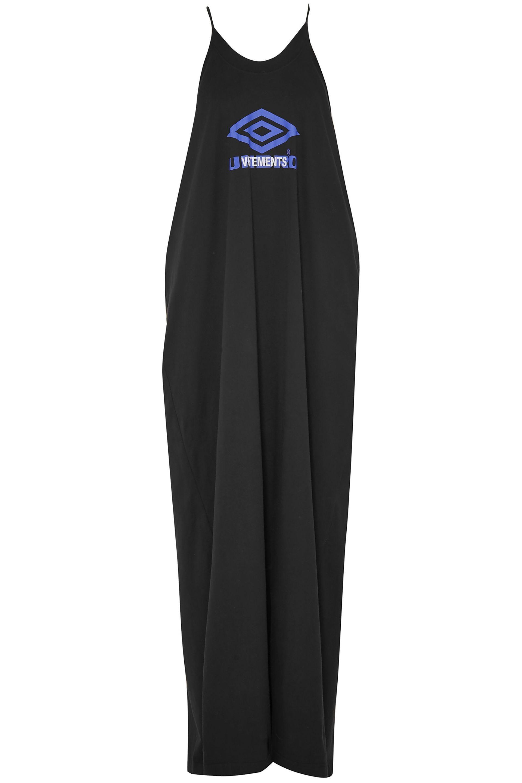 debdde2c49 Vetements. Women's Woman + Umbro Printed Cotton-jersey Maxi Dress Black