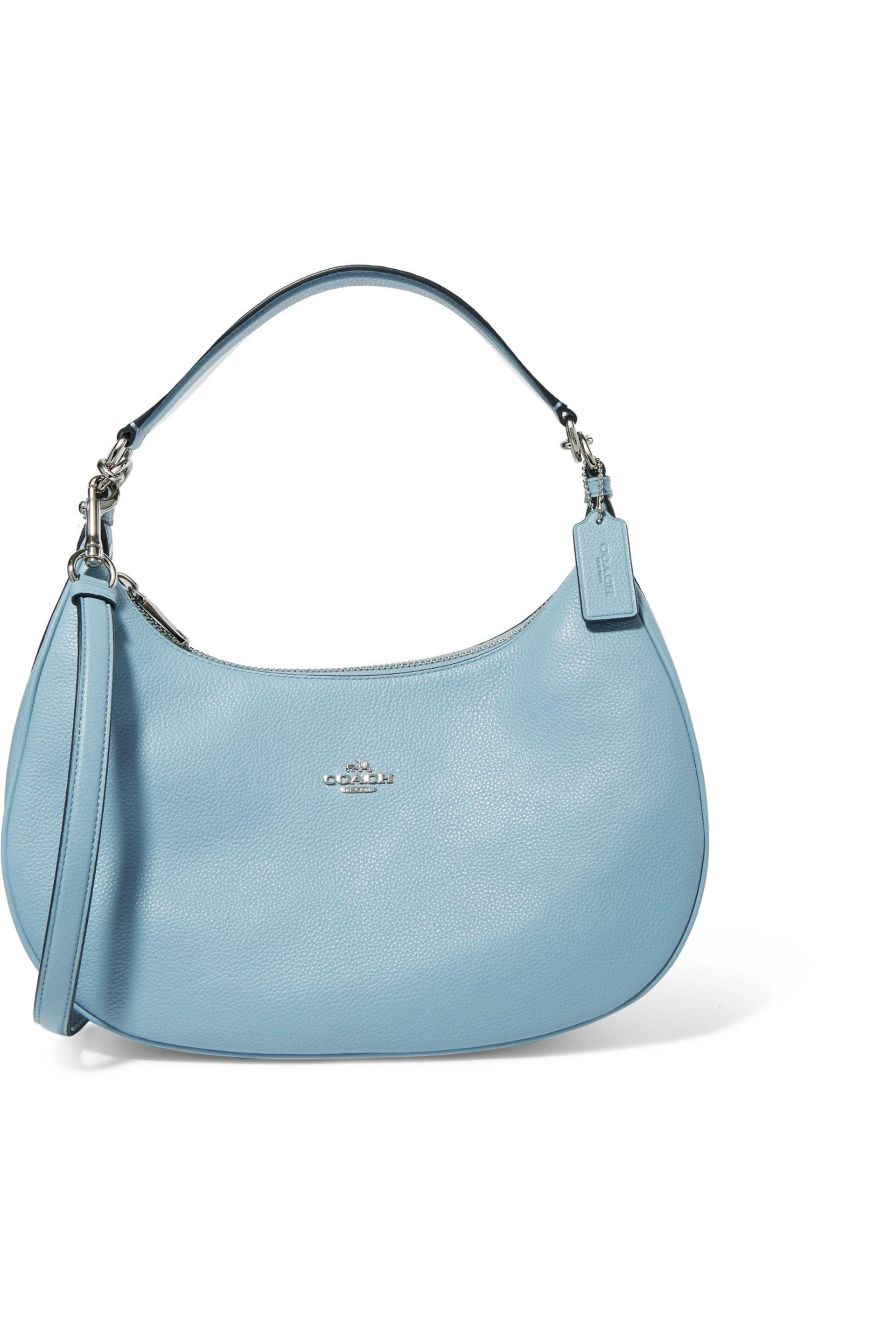 COACH Textred-leather Shoulder Bag Sky Blue in Blue - Lyst 184470f3503c4