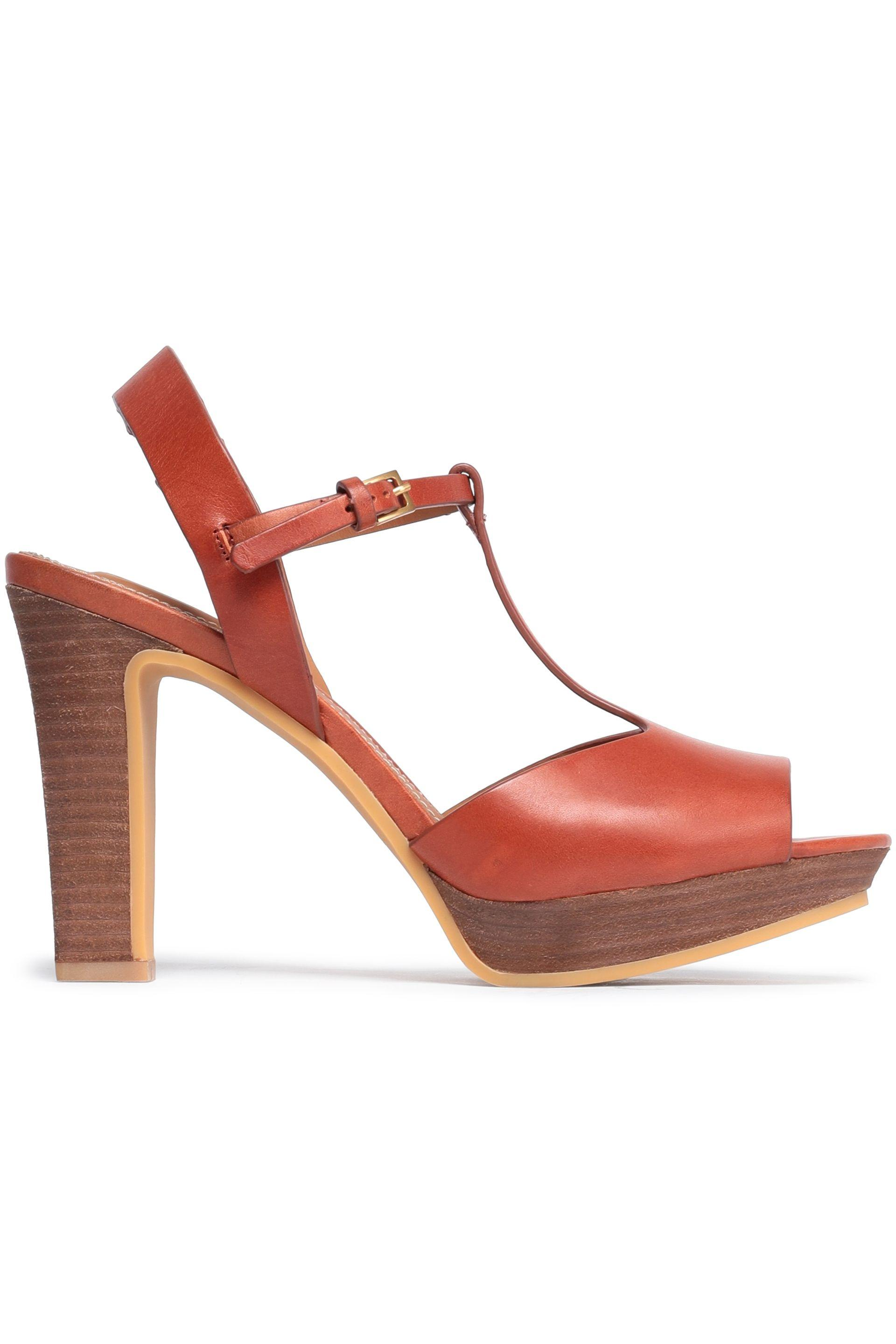 3367053da54 See By Chloé See By Chloé Woman Leather Platform Sandals Tan in ...