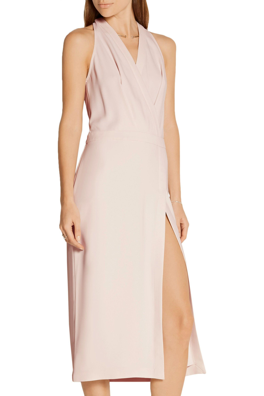 Dion Lee - Pink Wrap-effect Crepe Dress - Lyst. View Fullscreen