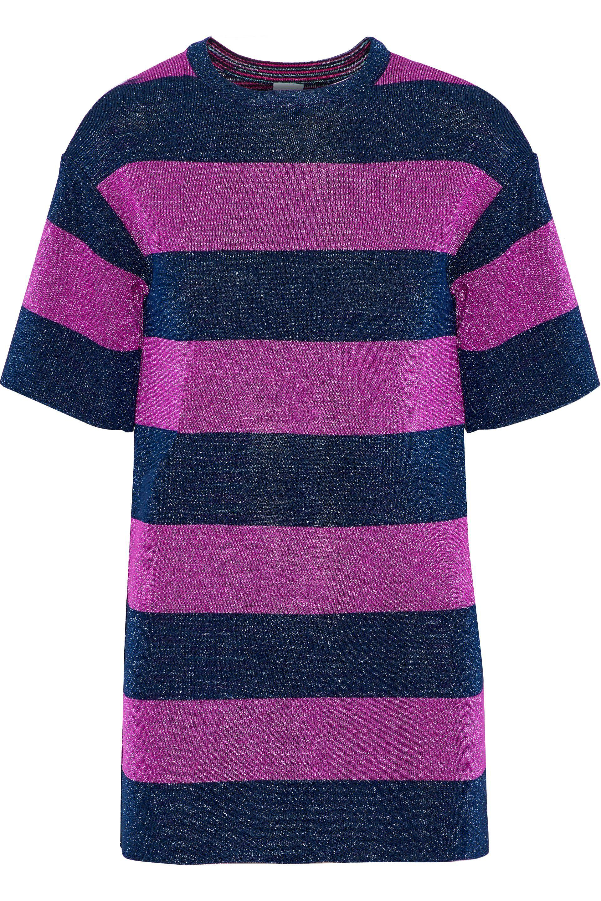 4f1f65fe12bafd M Missoni. Women s Woman Metallic Striped Jacquard-knit Top Magenta