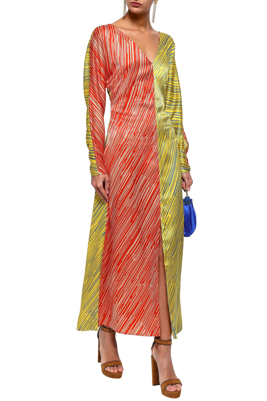 e3bb715f658 Diane von Furstenberg - Multicolor Printed Silk-satin Maxi Dress - Lyst.  View fullscreen
