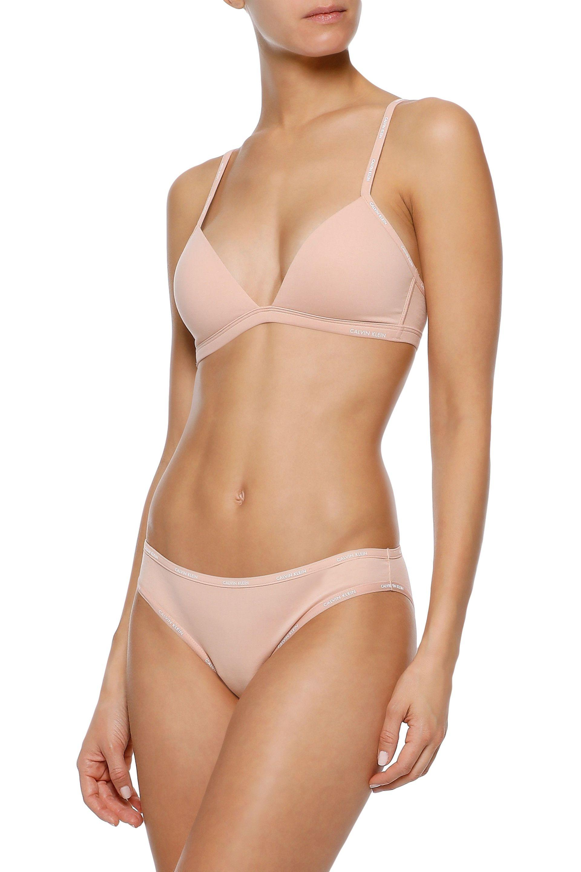 5dc49417456 Calvin Klein - Multicolor Woman Stretch-cotton Soft-cup Triangle Bra Blush  - Lyst. View fullscreen