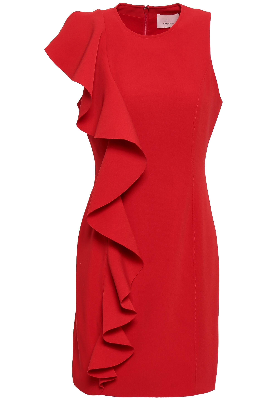 056b2717da8 Cinq À Sept - Woman Kimberlin Ruffled Crepe Mini Dress Red - Lyst. View  fullscreen