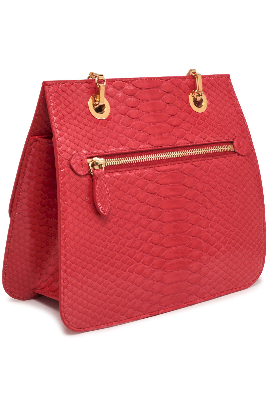 Mark Cross - Woman Francis Python Shoulder Bag Red - Lyst. View fullscreen 563f812620128