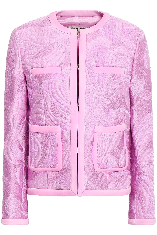 a176910ff140 Emilio Pucci Woman Jacquard Jacket Lilac in Purple - Lyst