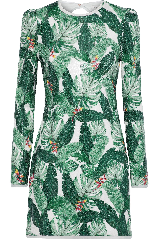 19e4bc29842a Rachel Zoe Amelia Sequined Crepe Mini Dress in Green - Lyst