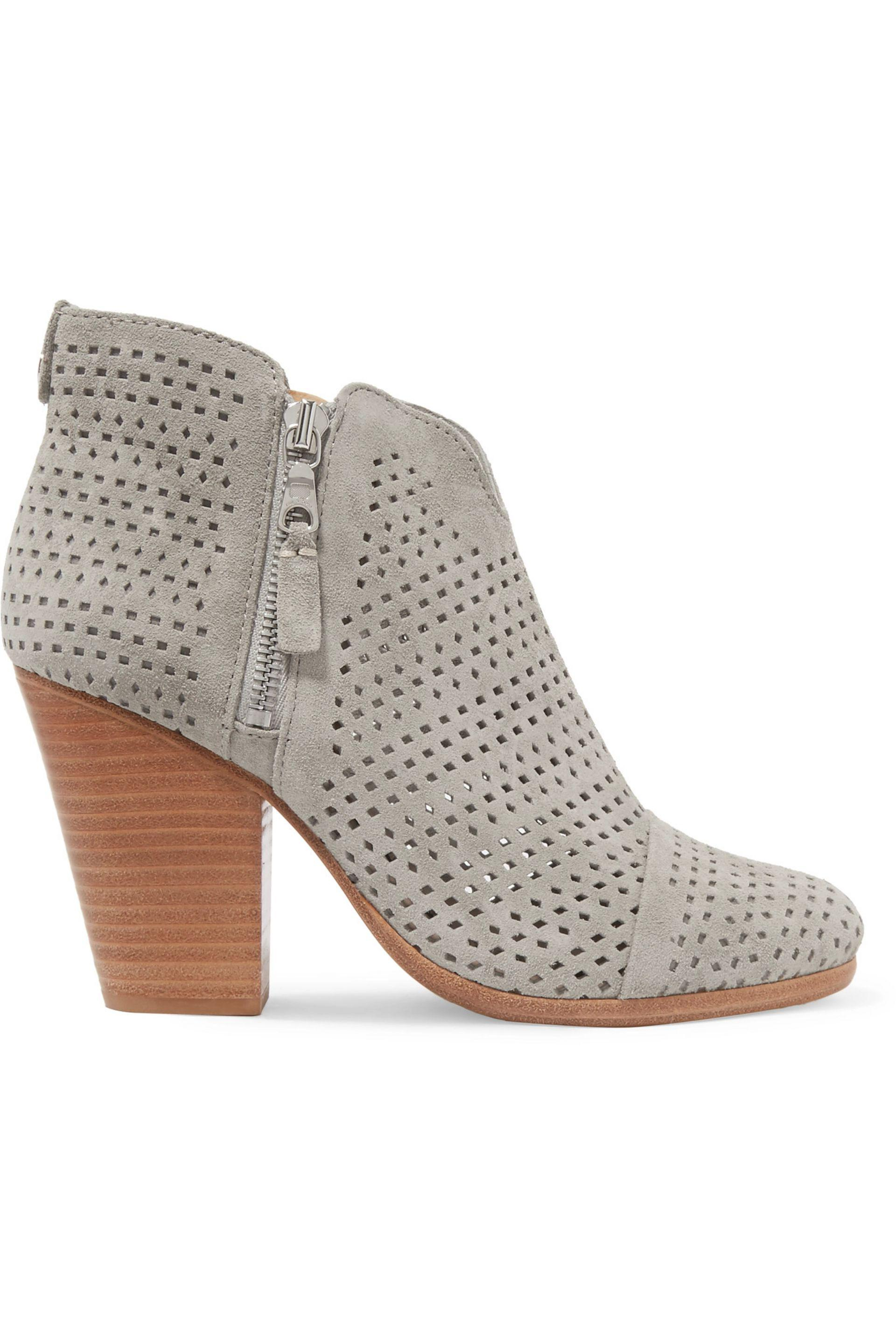Rag & Bone. Women's Margot Laser-cut Suede Ankle Boots ...