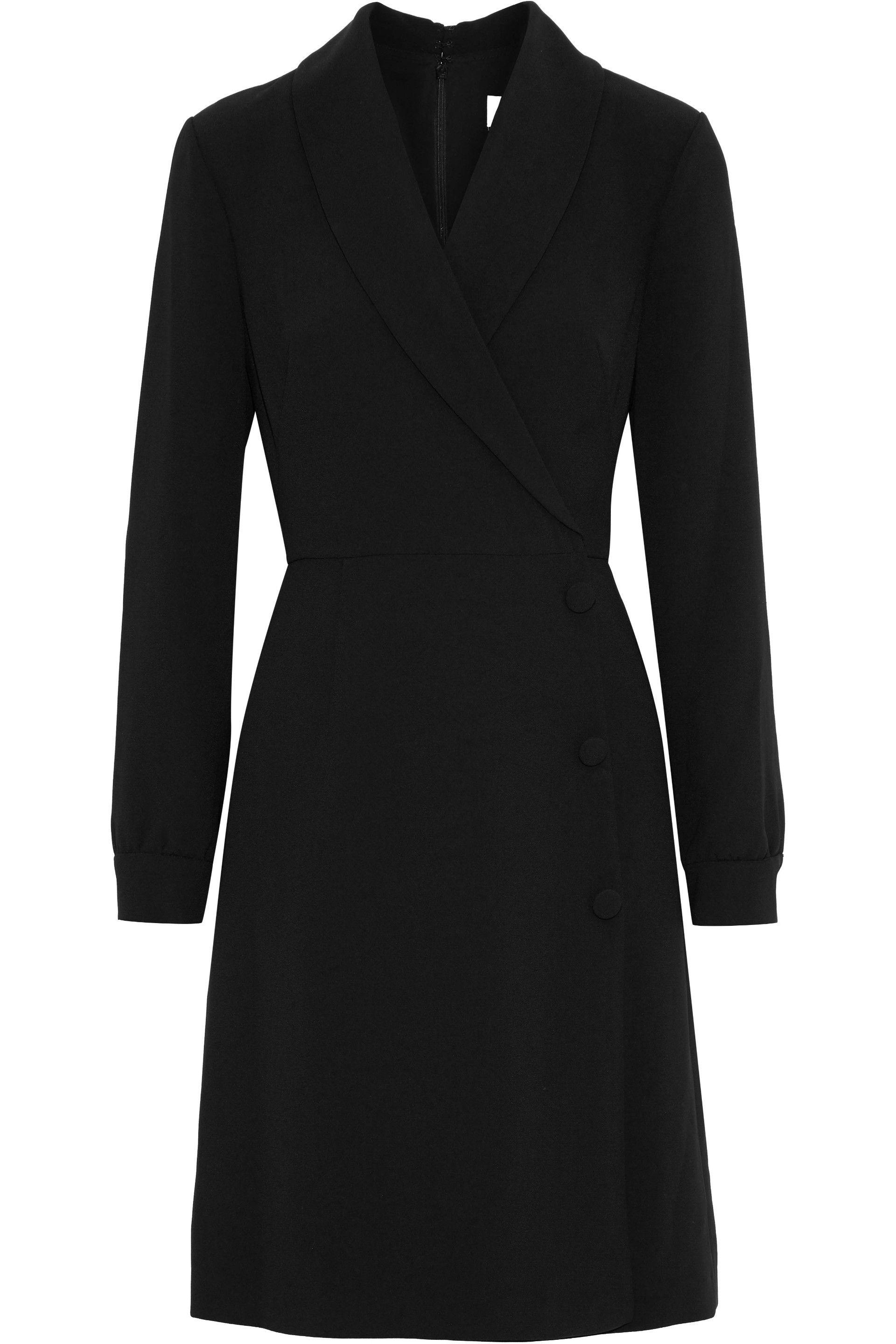 cacb453b83 mikael-aghal-Black-Wrap-effect-Crepe-Dress.jpeg