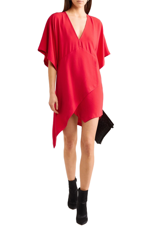 bffacf03c27 IRO Woman Ekima Asymmetric Crepe Mini Dress Red in Red - Save 16% - Lyst