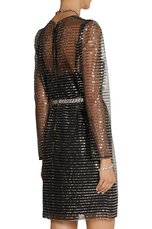 6bd7fc6f9d2 Marc Jacobs Embellished Tulle Dress in Black - Lyst
