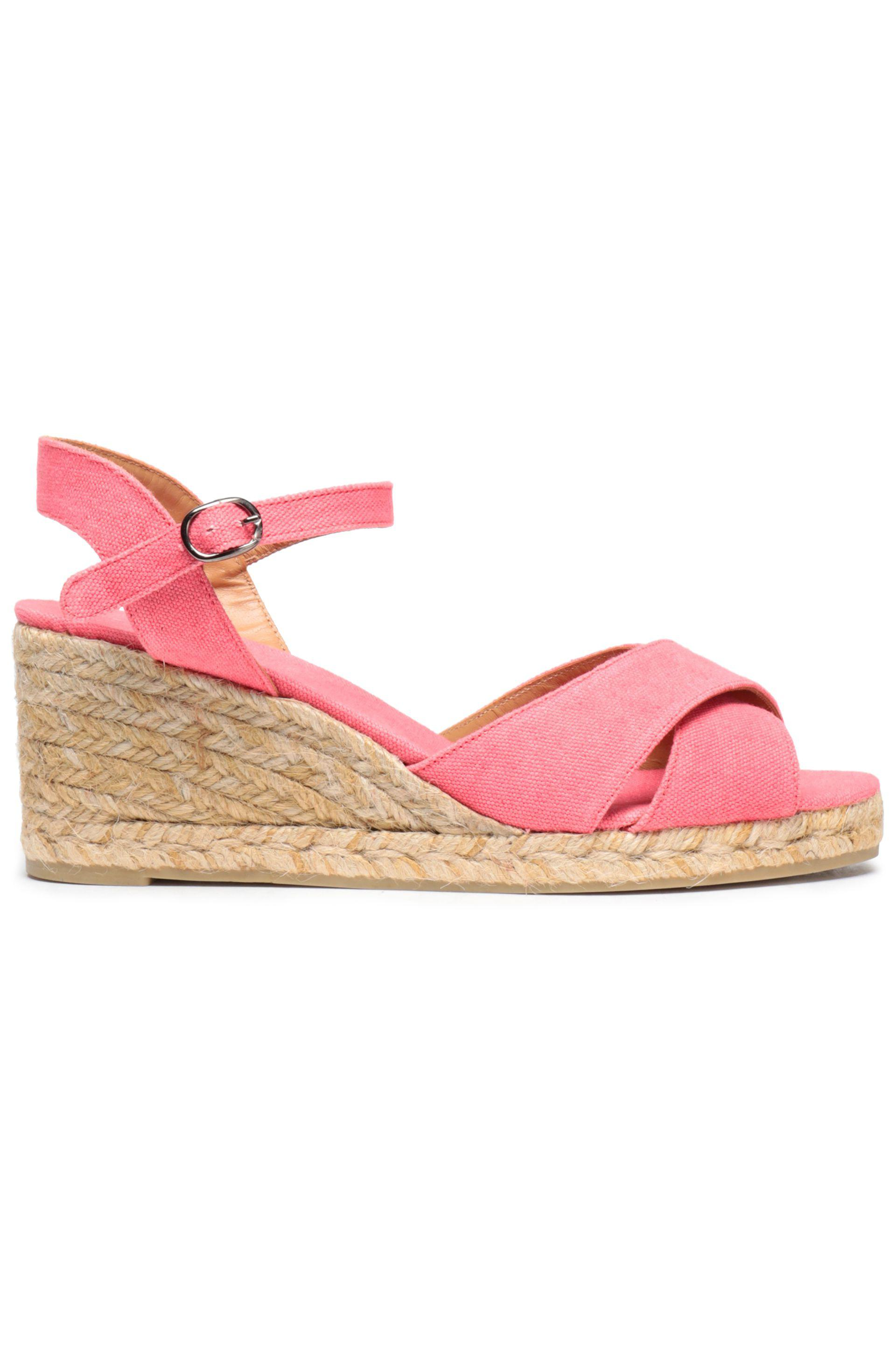 b0c0800c576 Castaner Blaudell Canvas Espadrille Wedge Sandals in Pink - Lyst