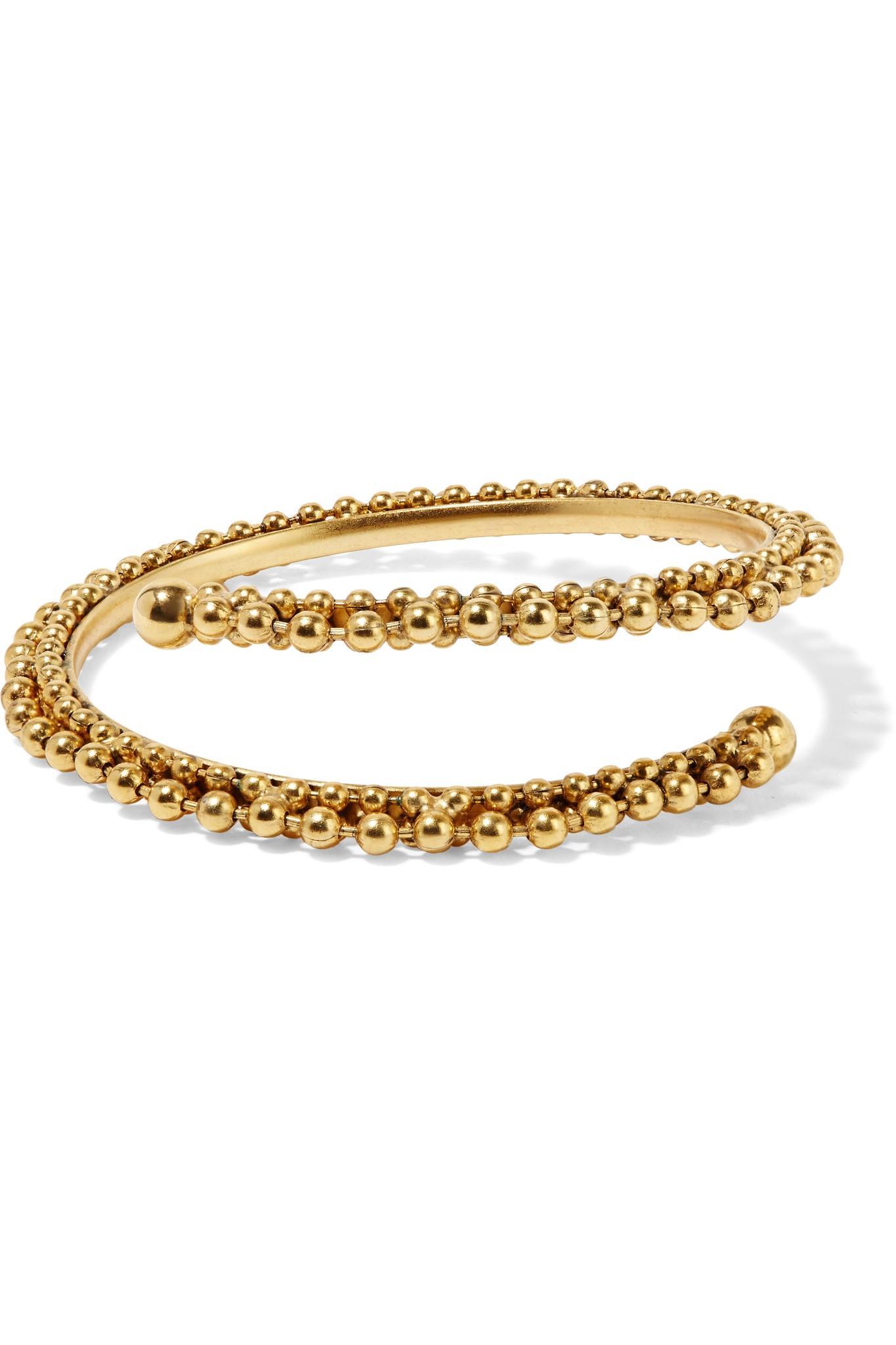 e4741790565 Lyst - Elizabeth Cole Gia Gold-plated Bangle in Metallic