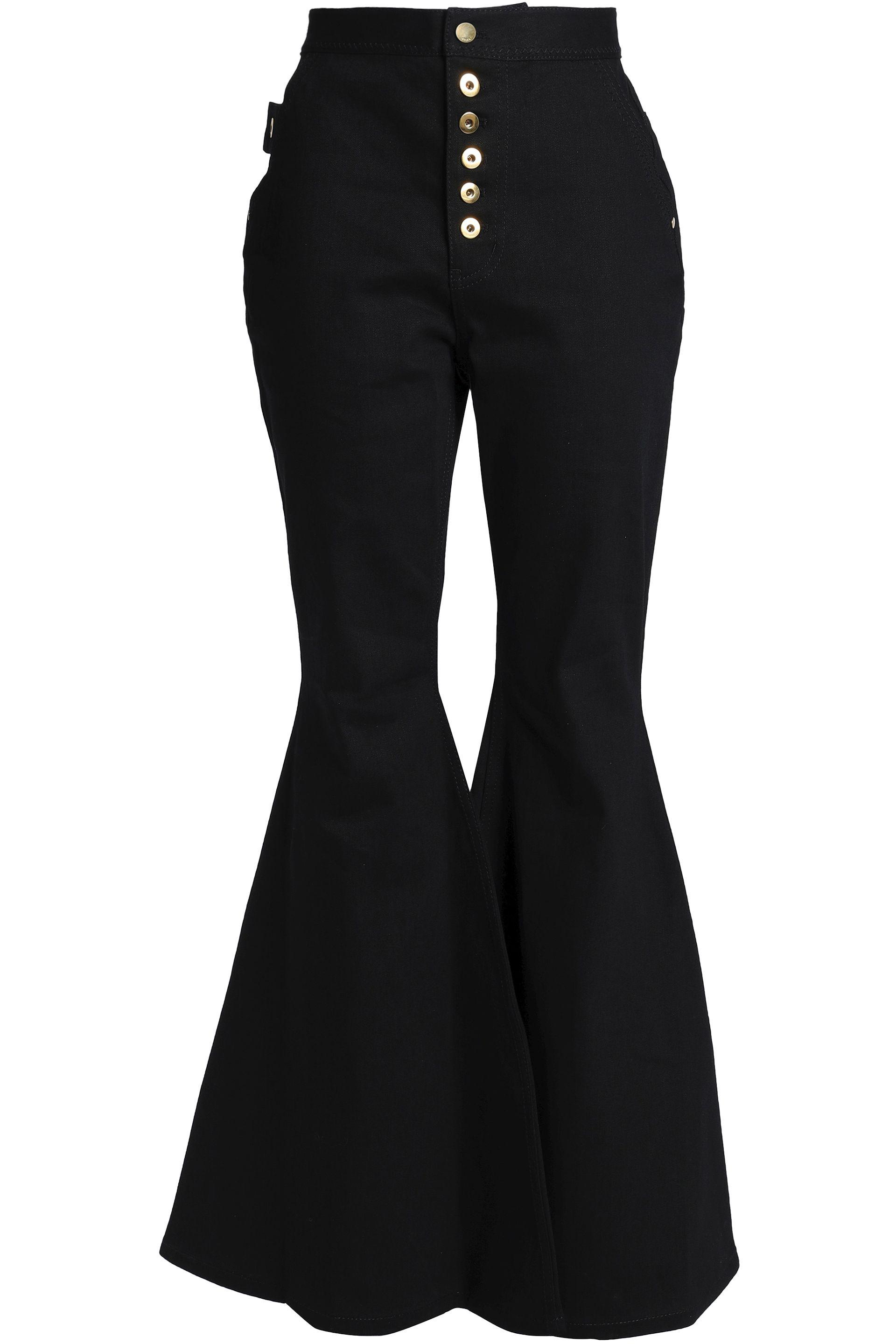 87f3c650902d Ellery. Women's Woman Ophelia Button-detailed High-rise Flared Jeans Black