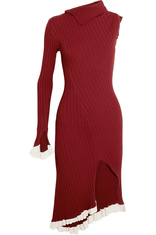 Ribbed-knit Mini Dress - Red Esteban Cortazar 3gX0933ik